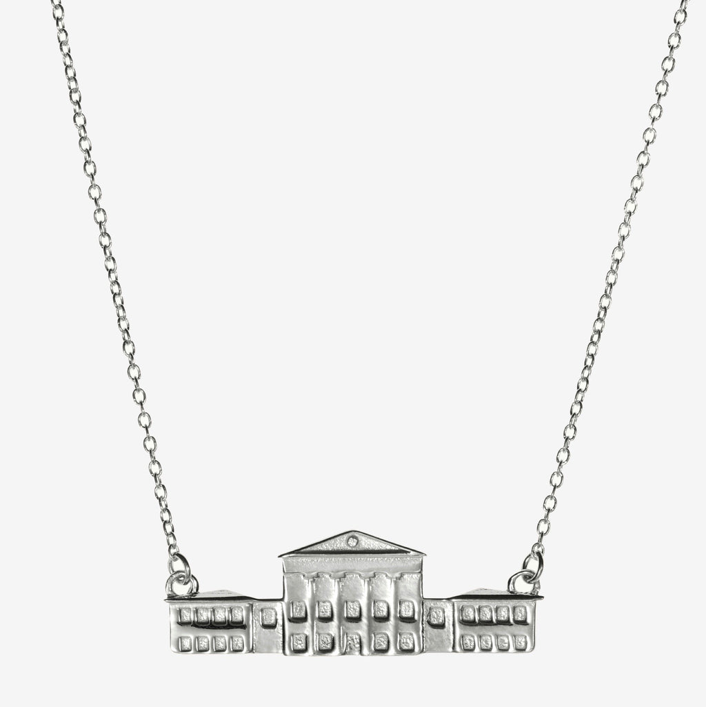 Silver Ole Miss Lyceum Necklace