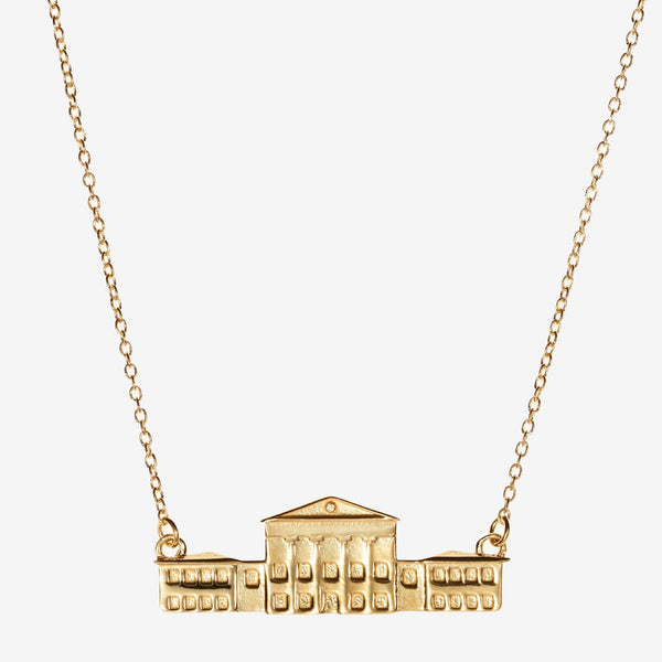 Gold Ole Miss Lyceum Necklace