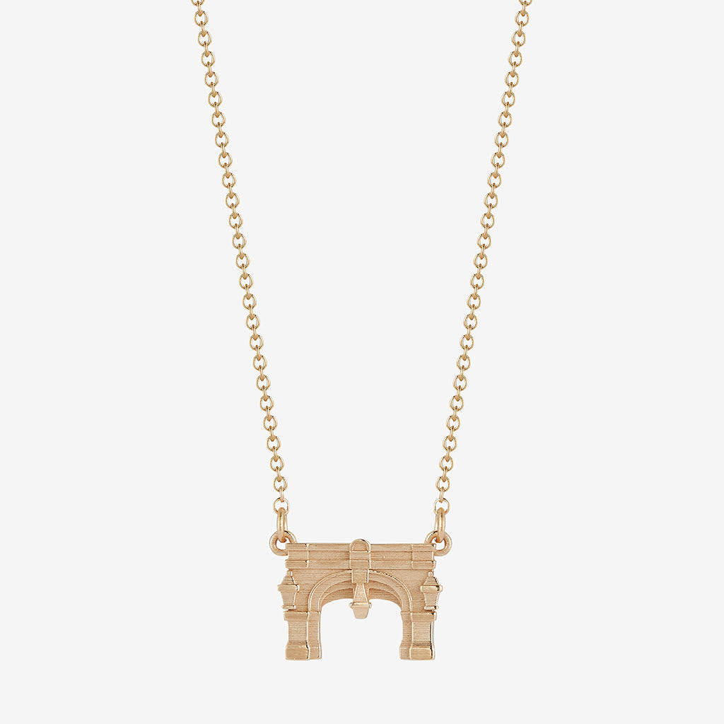 Miami Upham Arch Necklace 14K Gold