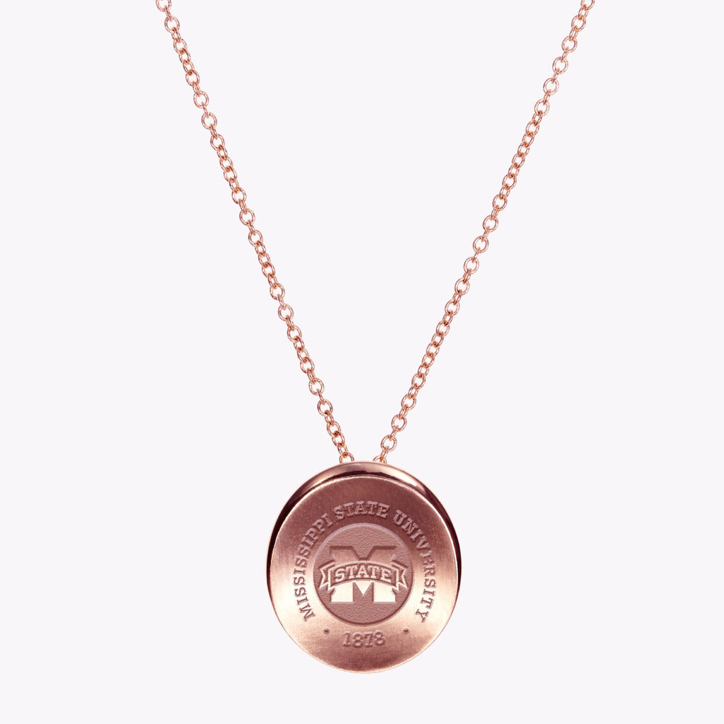 Mississippi State Crest Organic Necklace