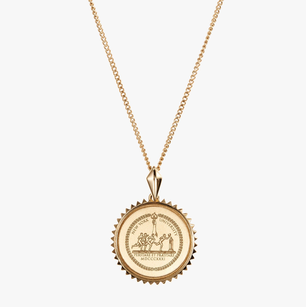 Gold NYU Sunburst Necklace