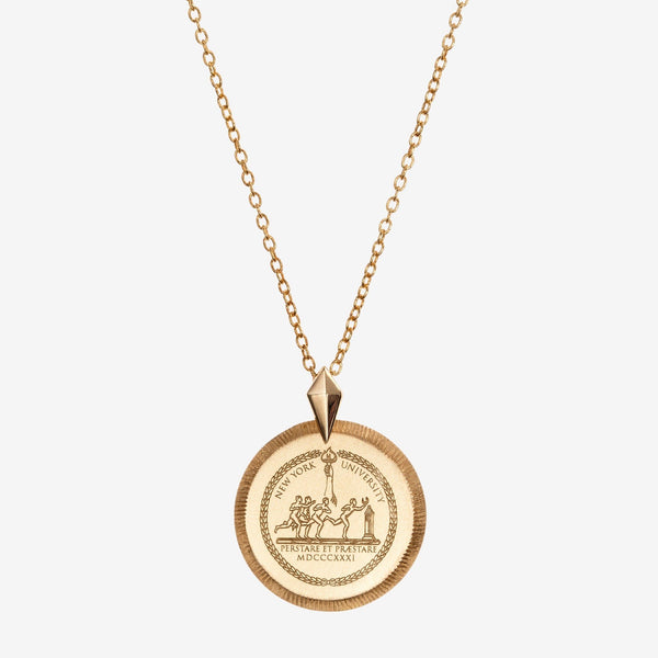 Gold NYU Florentine Petite Necklace