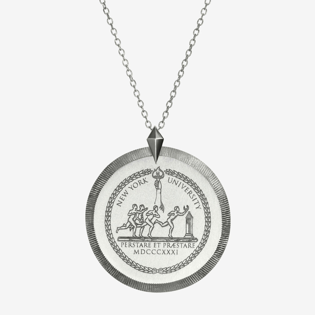 Silver NYU Florentine Necklace