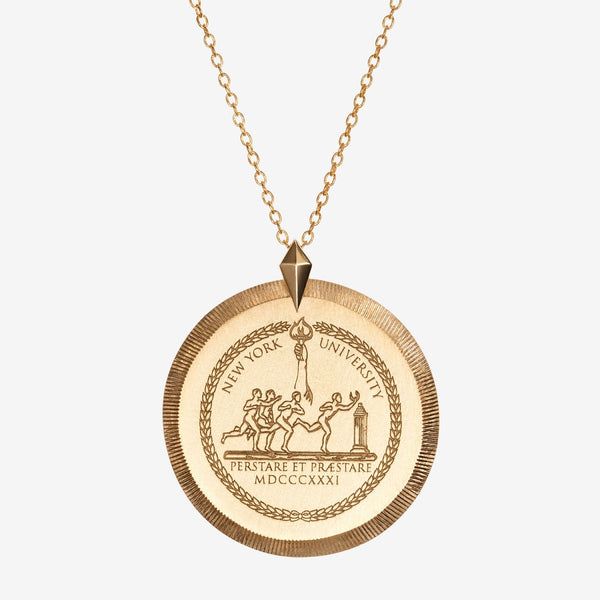 Gold NYU Florentine Necklace
