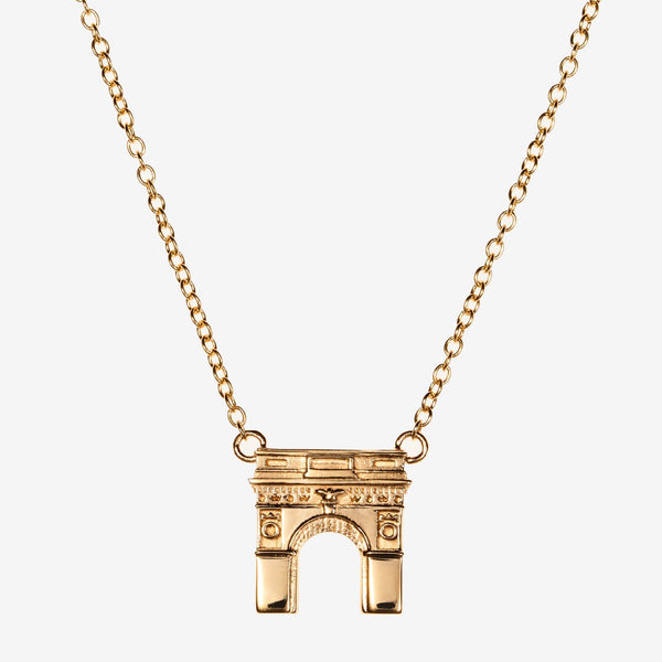 Gold NYU Washington Square Arch Necklace