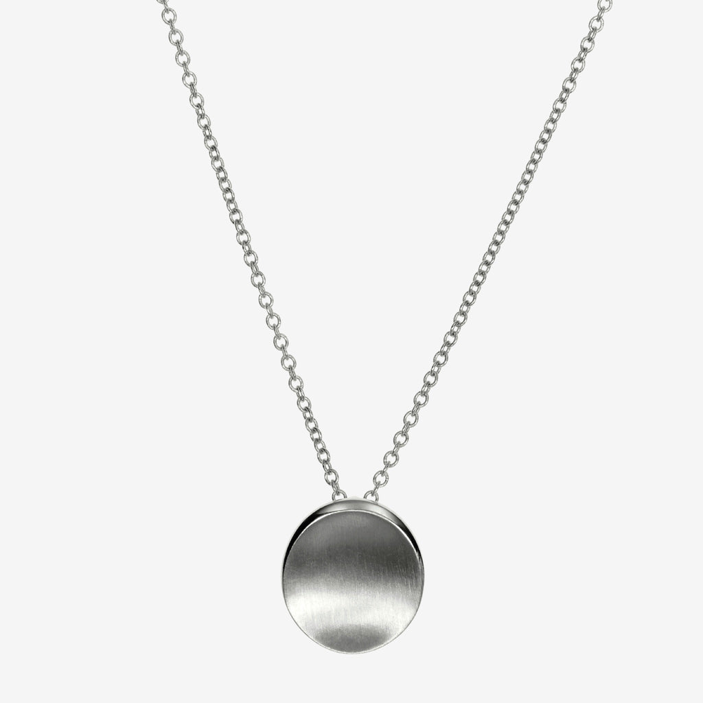 Silver Blank Organic Necklace Petite