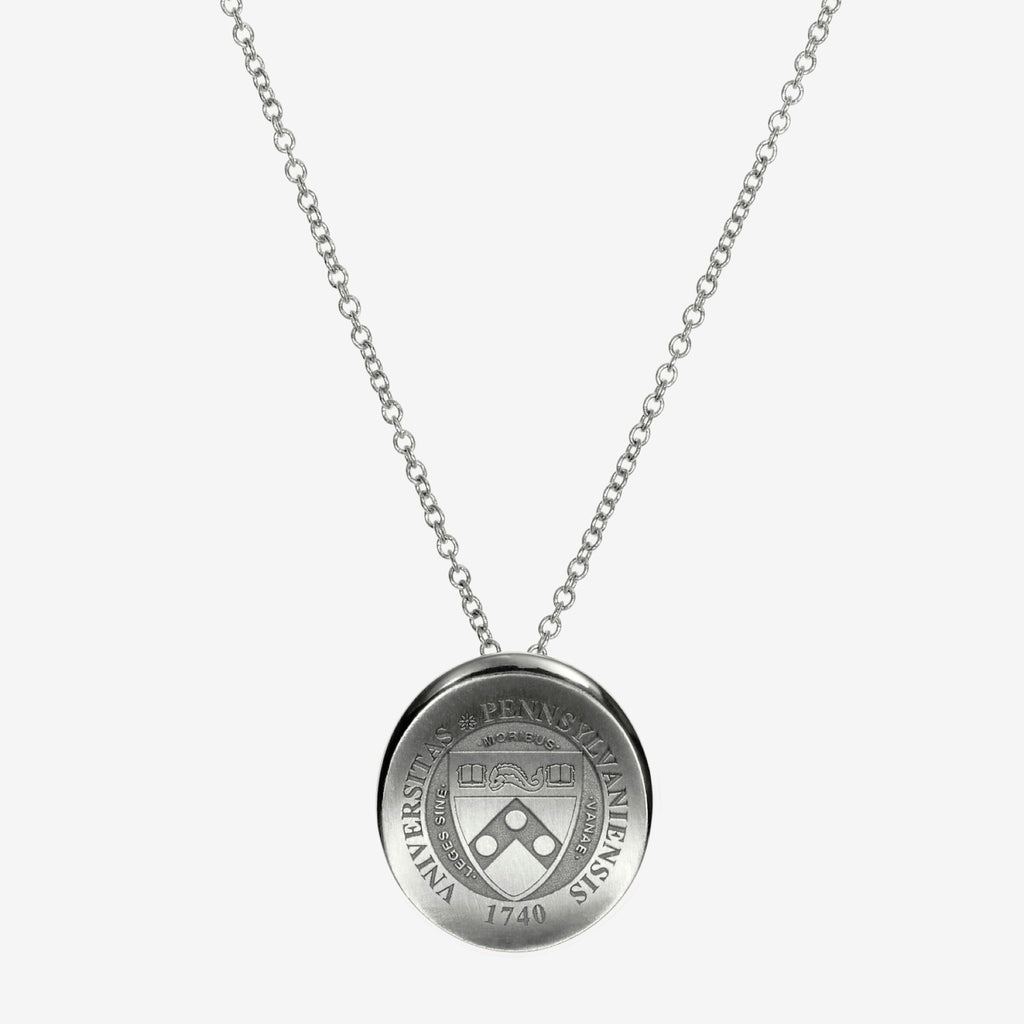 Silver Penn Organic Crest Necklace