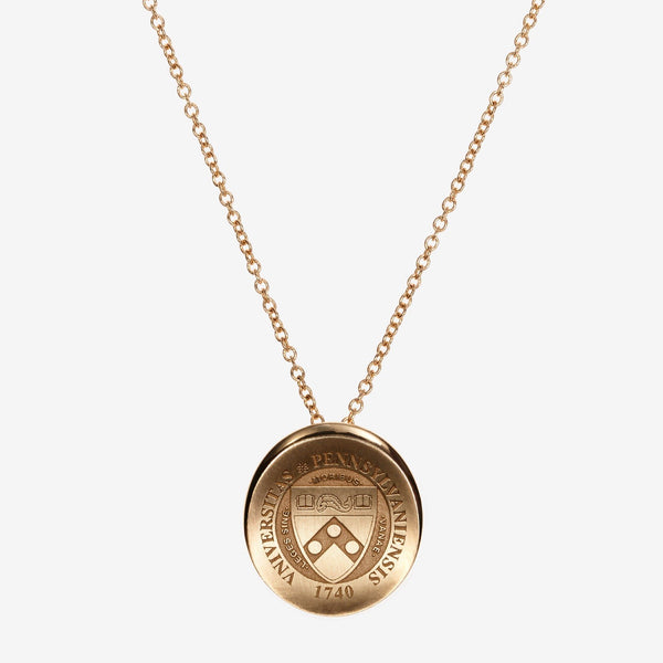 Gold Penn Organic Crest Necklace