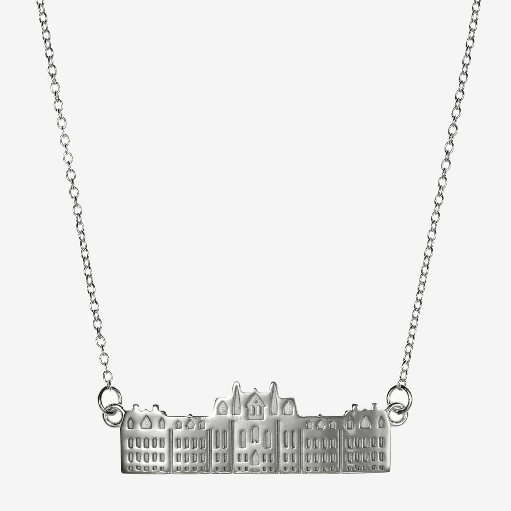 Silver Penn College Hall Architecture Necklace