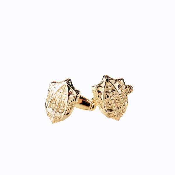 Gold Fisher Library Cufflinks
