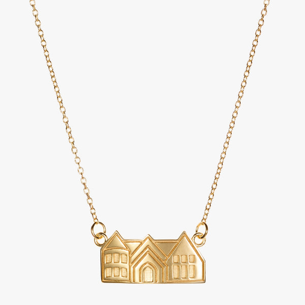 Pace Academy Castle Necklace Gold