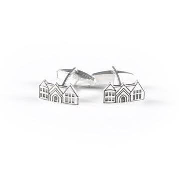 Pace Academy Castle Cufflinks Sterling Silver