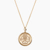 Gold Phi Delta Epsilon Sunburst Crest Necklace