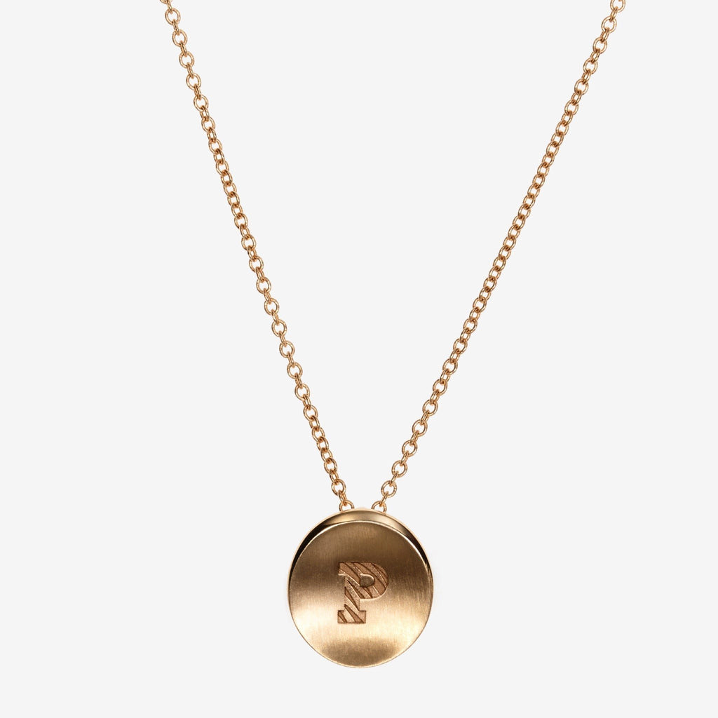 Gold Princeton P Necklace