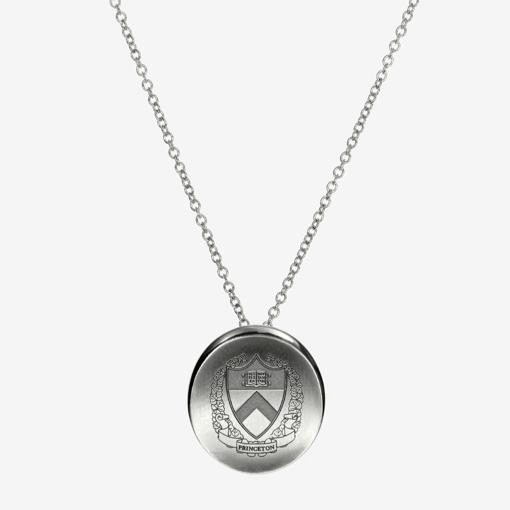 Silver Princeton Organic Crest Necklace