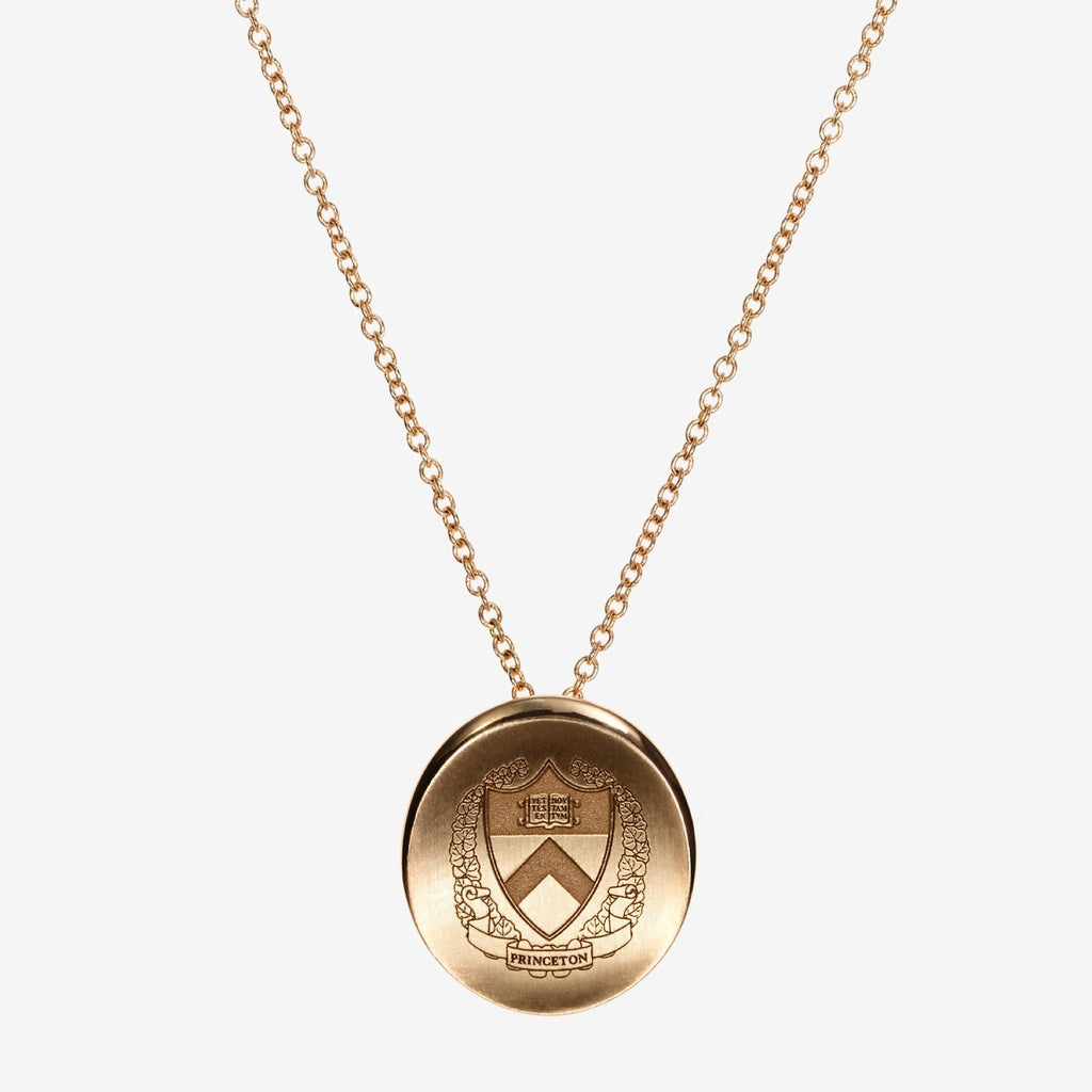 Gold Princeton Organic Crest Necklace
