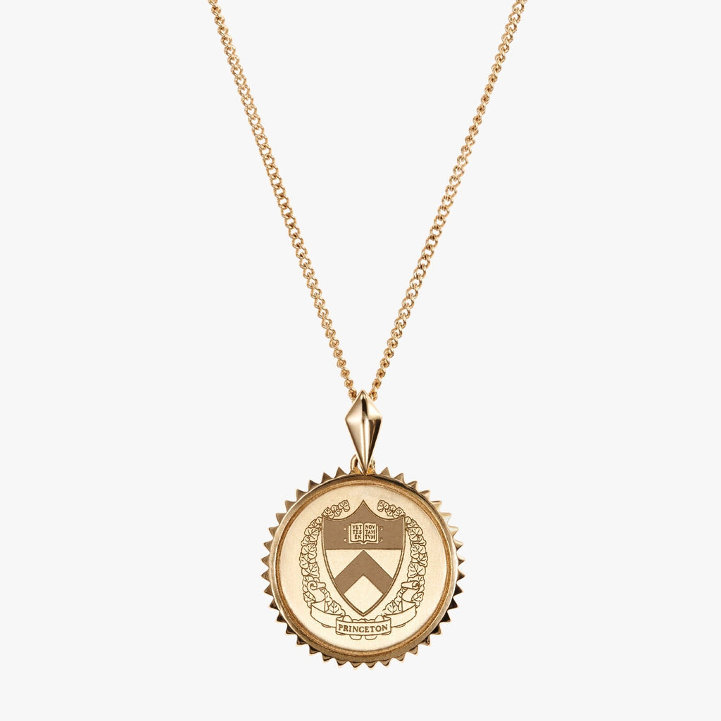 Gold Princeton Sunburst Crest Necklace
