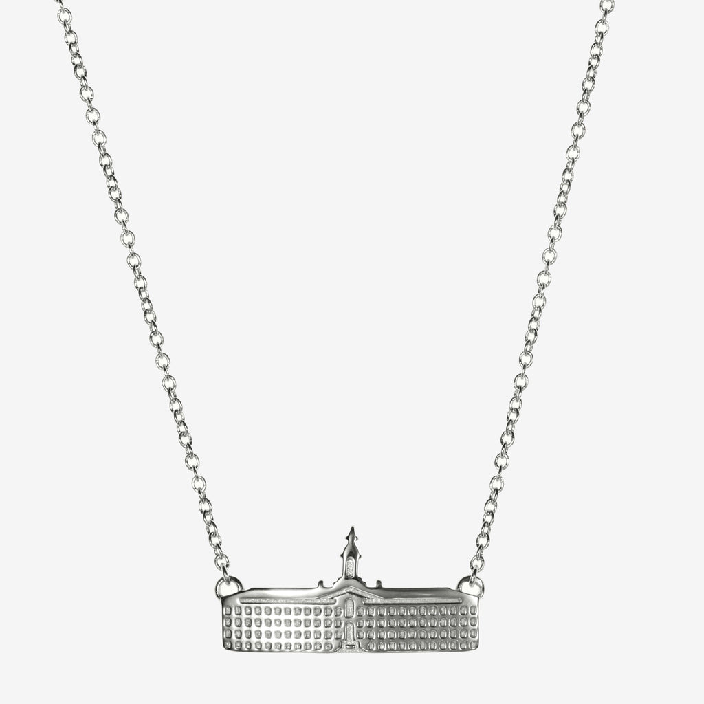 Silver Princeton Nassau Hall Architecture Necklace