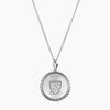 Silver Phi Sigma Pi Sunburst Crest Necklace