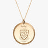Gold Phi Sigma Pi Florentine Crest Necklace