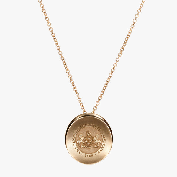 Gold Organic Penn State Crest Necklace