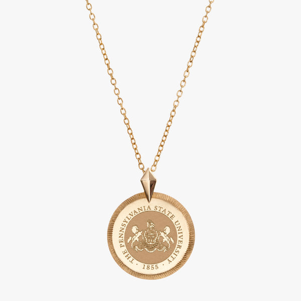 Gold Penn State Florentine Necklace Petite