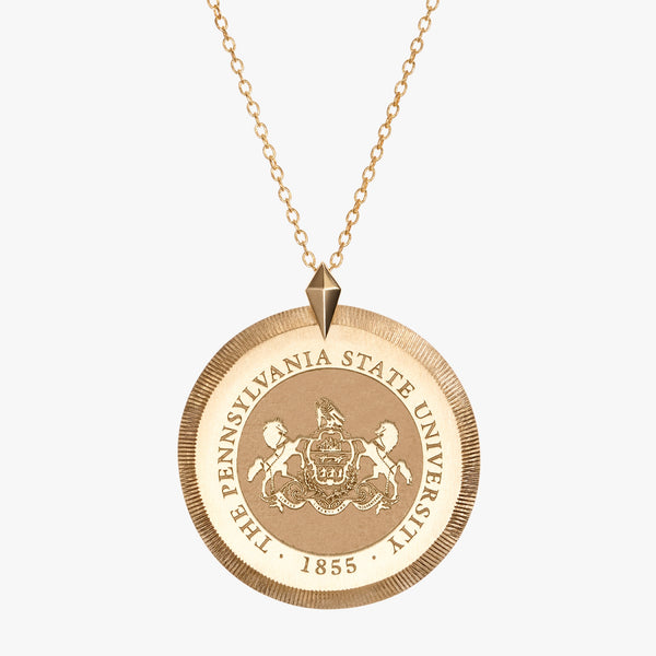 Gold Florentine Crest Necklace
