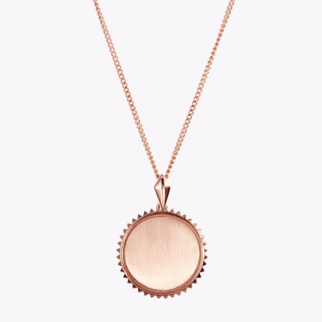 Alpha Phi Sunburst Crest Necklace