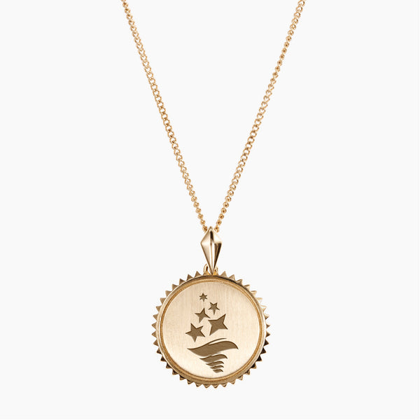 Gold Sigma Delta Tau Sunburst Torch Necklace