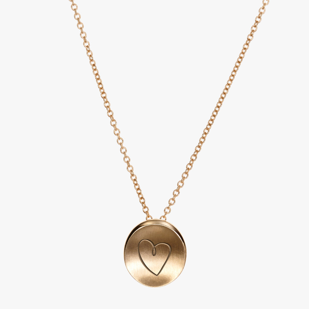 Gold Sigma Kappa Heart Necklace Petite