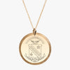 Gold Sigma Kappa Florentine Crest Necklace