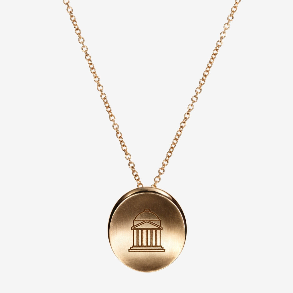 Gold SMU Organic Crest Necklace