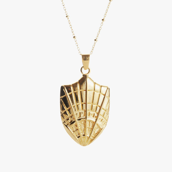 Gold SMU Rotunda Necklace