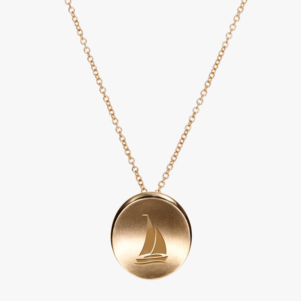 Gold Sigma Sigma Sigma Sail Necklace