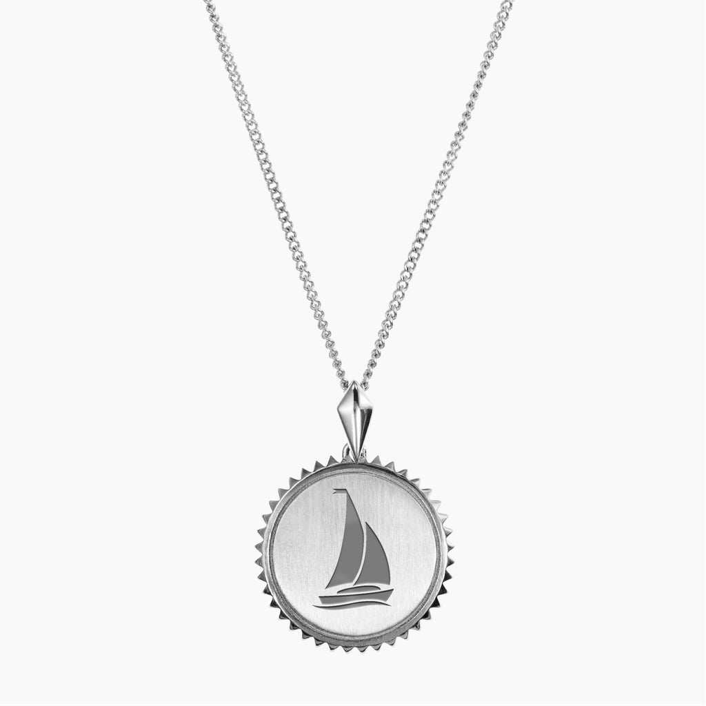 Sterling Silver Sigma Sigma Sigma Sunburst Sail Necklace