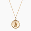 Gold Sigma Sigma Sigma Sunburst Sail Necklace