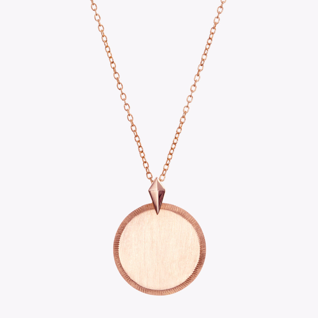 Alpha Omicron Pi Florentine Rose Necklace Petite