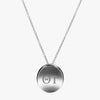 Silver Theta Tau Letters Necklace
