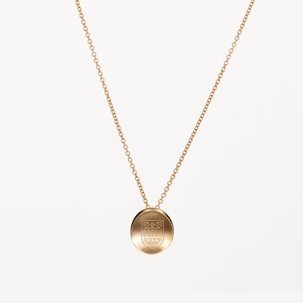 Tuck Shield Necklace Dartmouth Gold