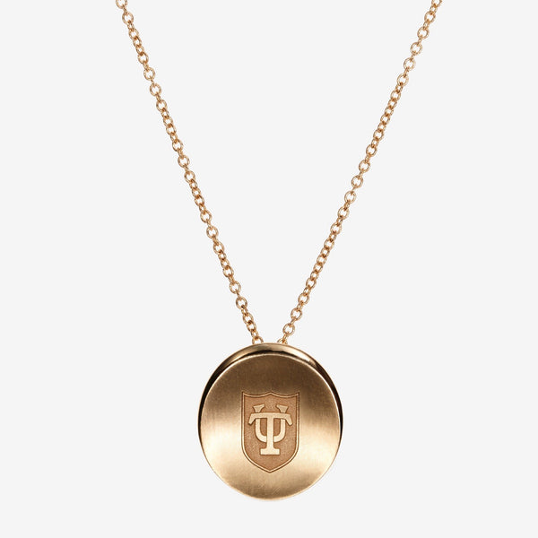 Gold Tulane Organic TU Shield Necklace