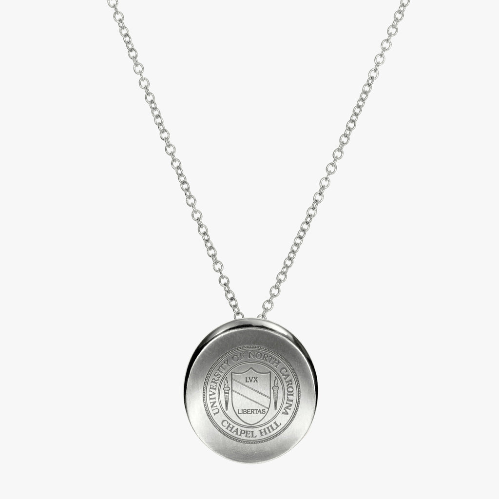 Silver Organic Crest Necklace