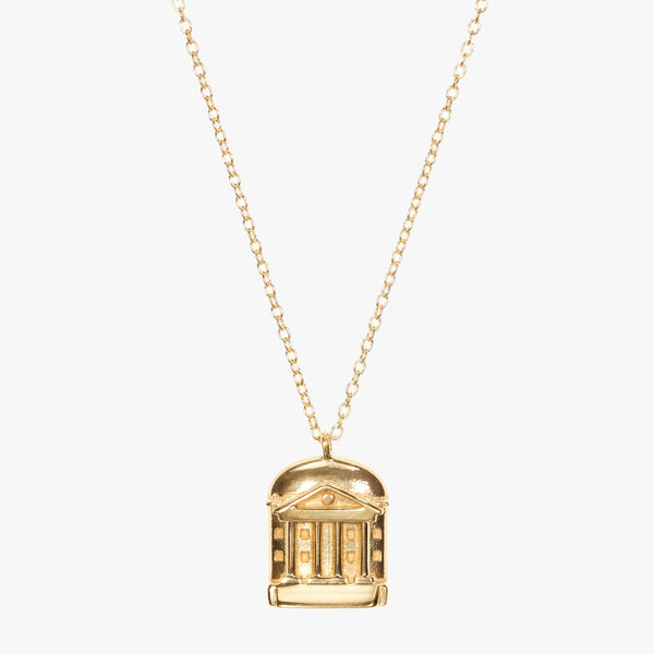 Gold UVA Rotunda Necklace