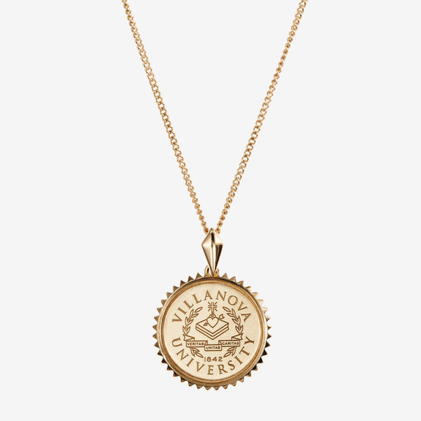 Gold Villanova Sunburst Crest Necklace