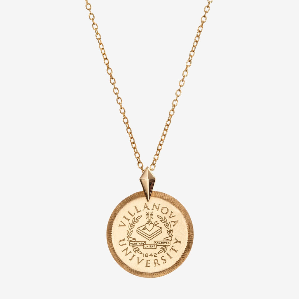 Gold Villanova Florentine Crest Necklace Petite