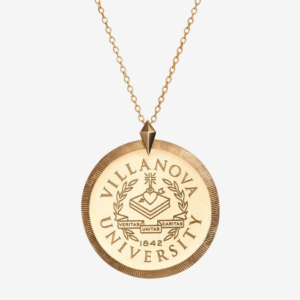Gold Villanova Florentine Crest Necklace Large
