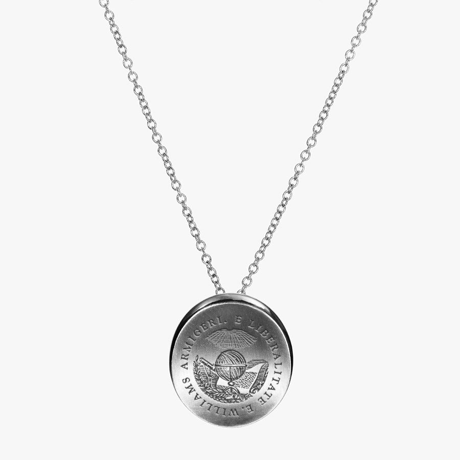 Silver Williams College Organic Necklace