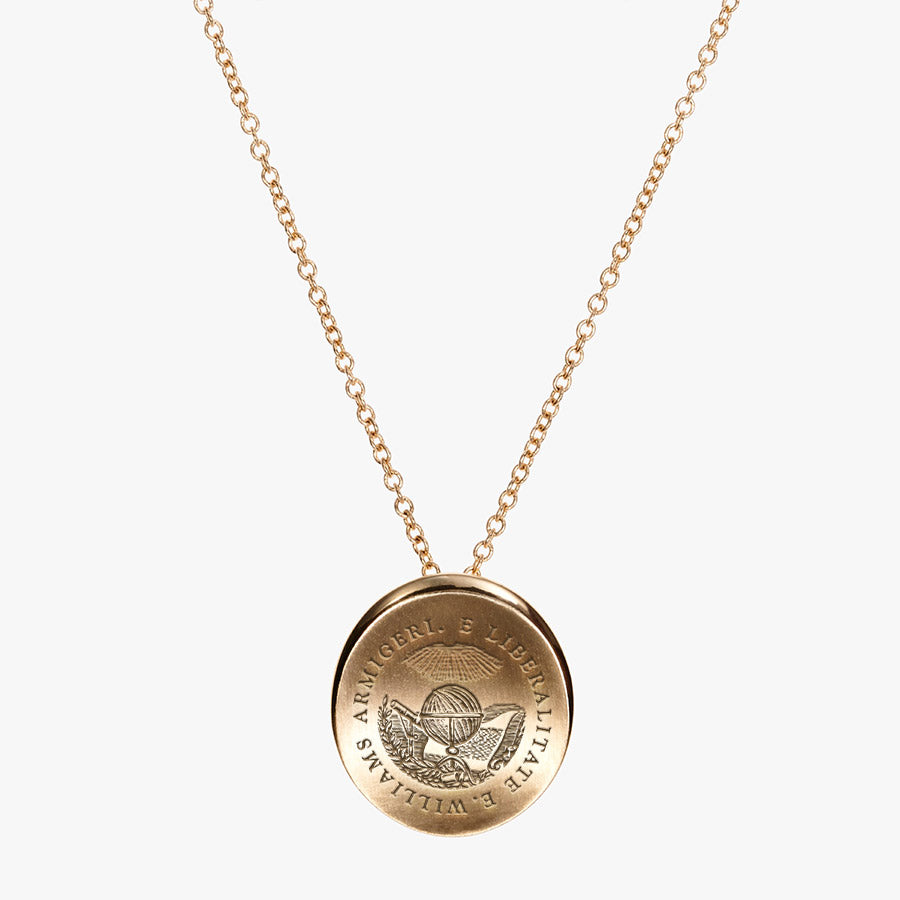 Gold Williams College Organic Necklace