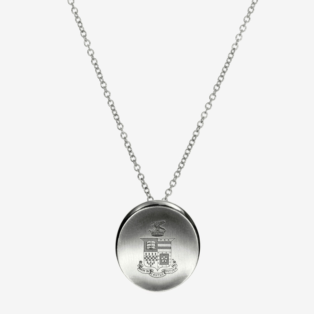 Silver Washington & Lee Organic Crest Necklace
