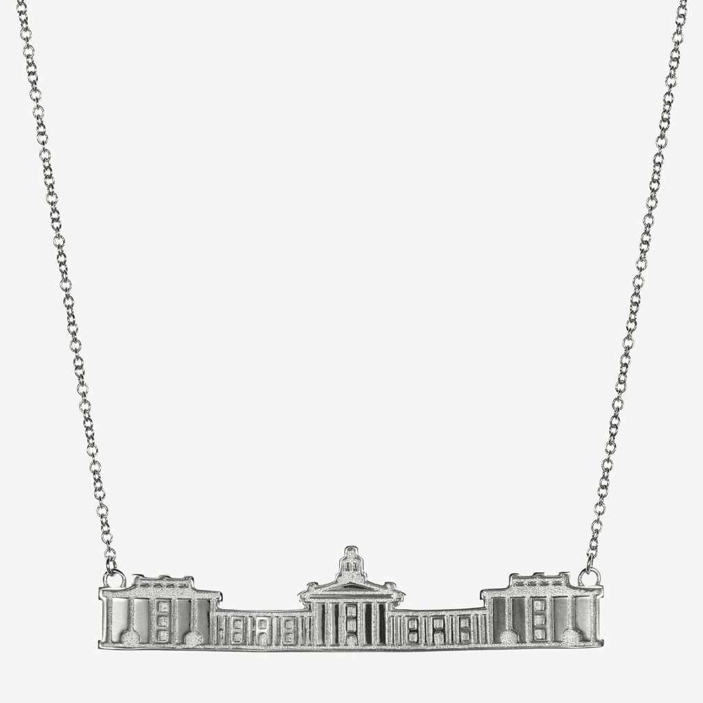 Silver Washington & Lee Colonnade Architecture Necklace