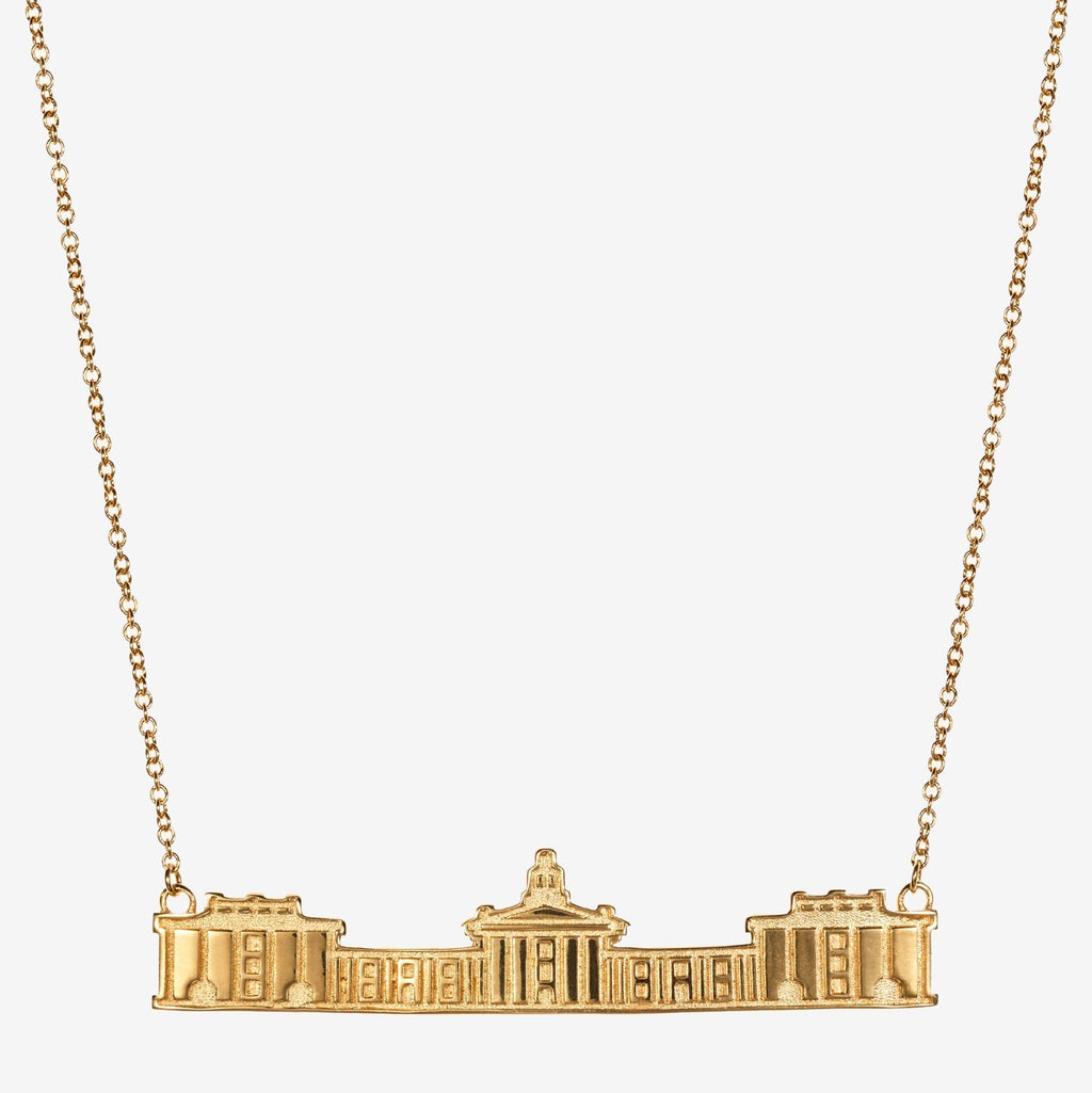 Gold Washington & Lee Colonnade Architecture Necklace